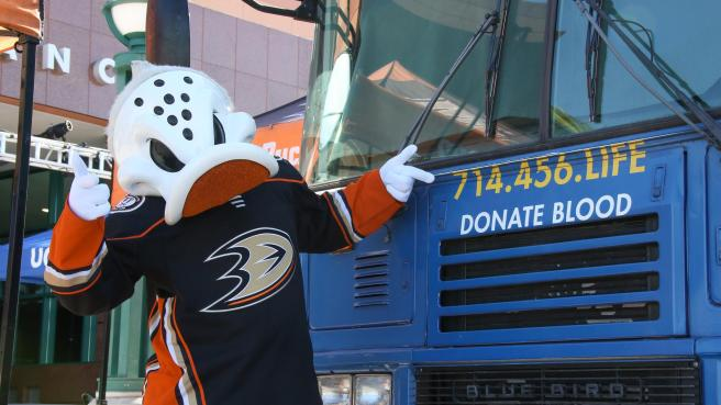 UCI Blood Drive with Anaheim Ducks and Honda Center Courtesy of Anaheim Ducks