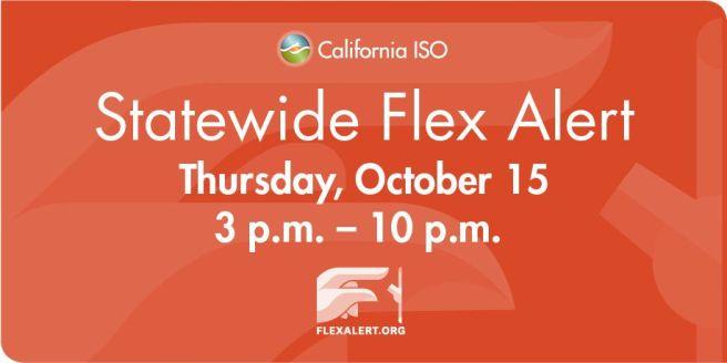 California Flex Alert Energy Savings October 15 2020