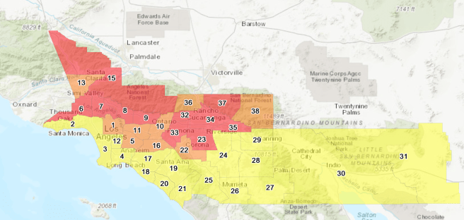 South Coast AIr Quality Management District AIr Quality for Southern California October 4 2020