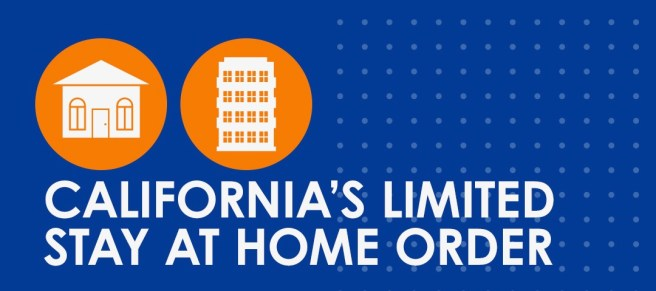 California Limited Stay At Home Order November 21 2020 thru December 21 2020 PSA