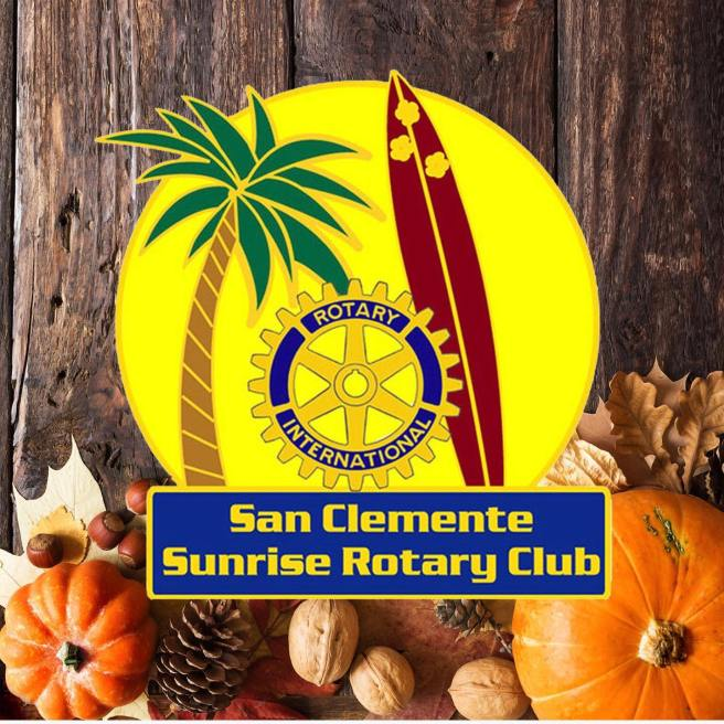 San Clemente Sunrise Rotary Club Thanksgiving Food Drive November 21 and November 22 2020