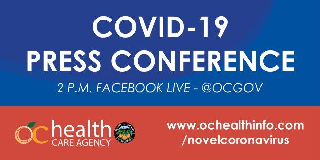 Orange County California COVID19 Facebook Live Press Conference Thursday December 10 2020