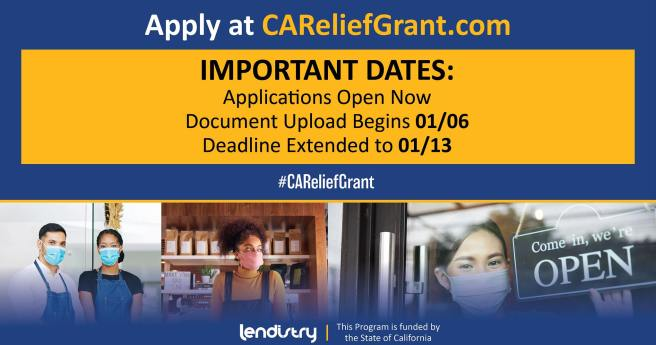 California Relief Grant Program PSA