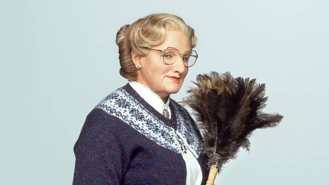 Robin Williams As Mrs. Doubtfire Courtesy of 20th Century Fox