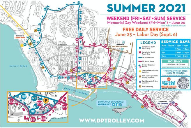 Dana Point Trolley Summer 2021 Map