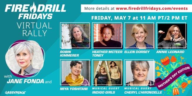 Greenpeace Jane Fonda Fire Drill Friday May 7 2021