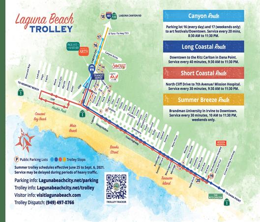 Laguna Beach Summer Trolley 2021 Map