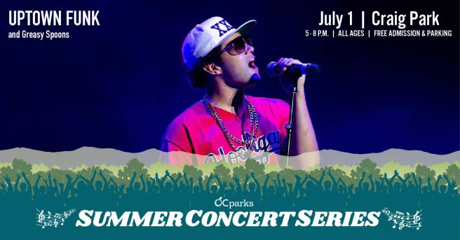 Orange County Parks Free Summer Concerts Featuring Uptown Funk July 1 2021 in Fullerton California Courtesy of OCParks