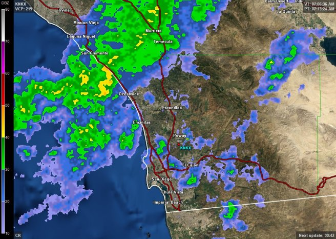 Southern California Weather Map July 26 2021 Courtesy of NWS San Diego