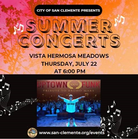 San Clemente Free Summer Concerts Thursday July 22 2021