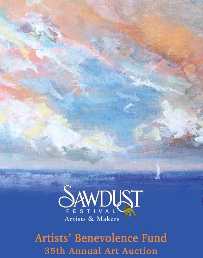 Laguna Beach California Sawdust Art Festival Artists' Benevolence Fund Art Auction Sunday August 15 2021