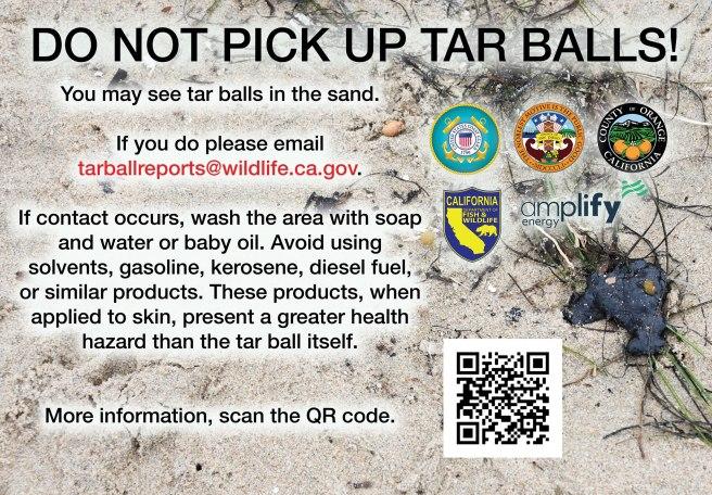 Southern California Beaches Do Not Pick Up Tar Balls PSA October 2021