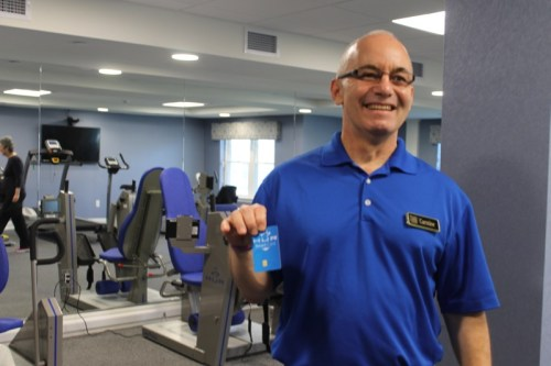 Fitness manager Carmine Arpaia and the state-of-the-art fitness center.