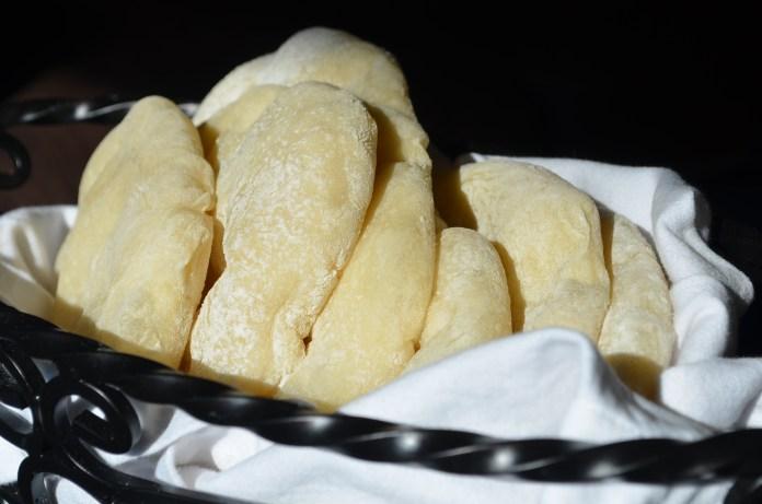 Pita bread in basket