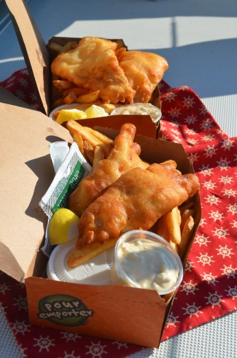 Halibut fish and chip from Bob on the Rock