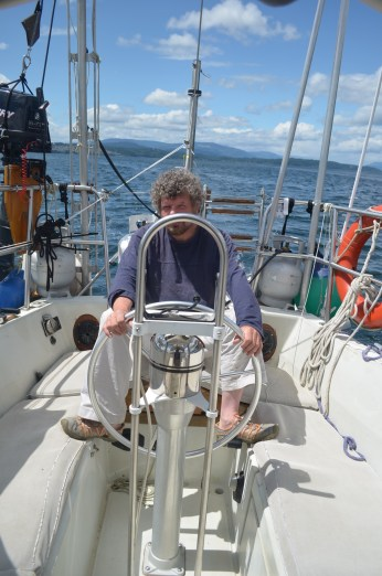 Yip for the first time we actually managed to sail. Which was a good thing since the engine is still not sounding as it should.