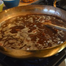 First we boil Tamarind paste with water.