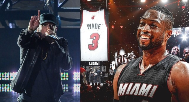 "WATCH: ""Lose Yourself"" played during Dwyane Wade's jersey retirement ceremony"