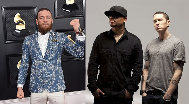 """WATCH: Conor McGregor bumps Eminem & Royce 5'9″s """"You Gon' Learn"""""""