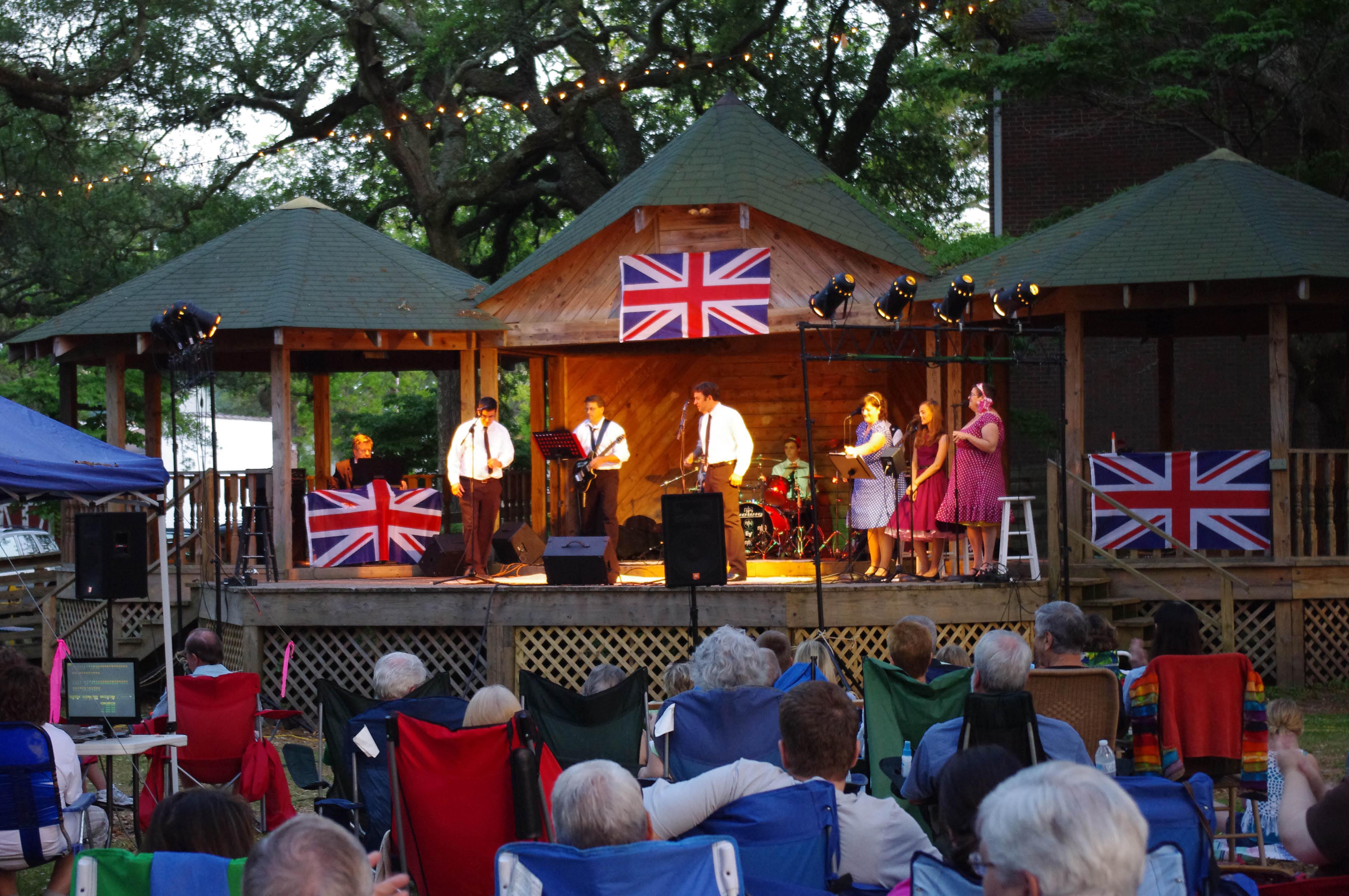 Image result for southport, nc concerts franklin square park images