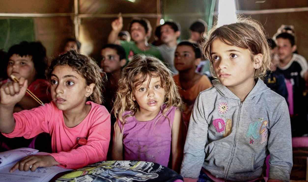 Syrian Refugee - Children in classroom