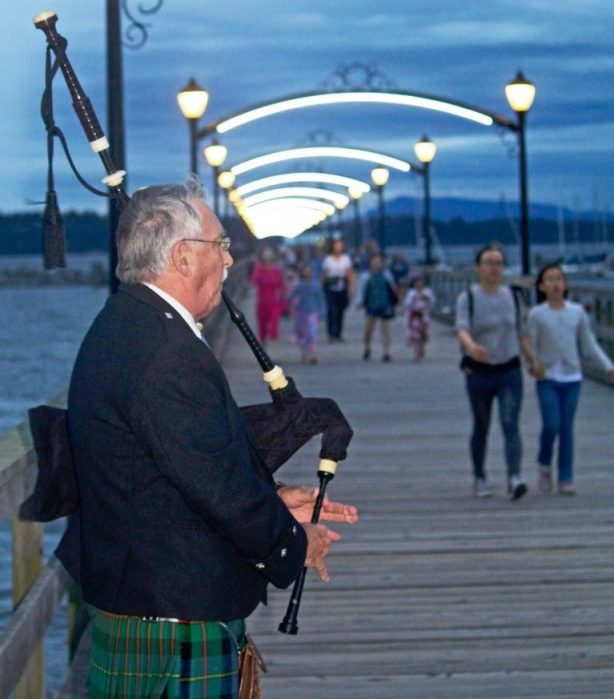 Crescent Beach Pipers at Sunset Friday Nights at the Pier