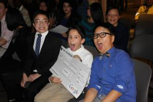 Students celebrate their TAF funding. Photo courtesy of T.A.F