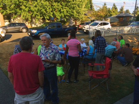 Skyway residents gather for a Night Out event