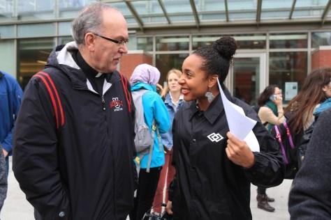 November 12th, 2015 - Seattle University in Solidarity with Black Mizzou rally lead by SU's Black Student Union (Photo: Chris Joseph Kalinko, Seattle University)