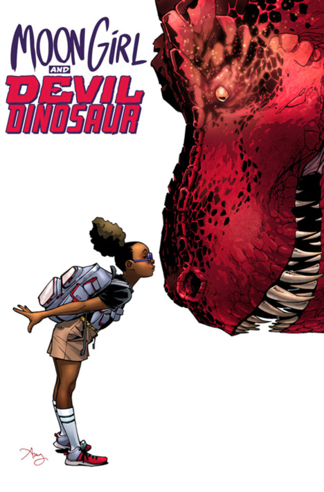 "Cover of ""Moon Girl and Devil Dinosaur"" (art by Amy Reeder)"
