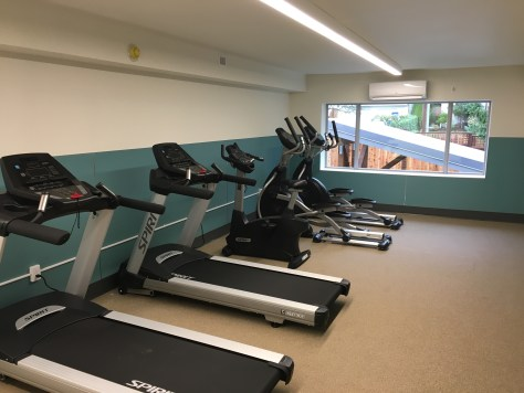 Image 4 Caption--The facility sports a small gym.