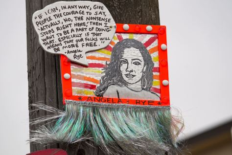 The portrait of Angela Rye is one of the newer pieces by artist thatswhatshesaid206. It is located on Beacon Hill across the street from the Station.