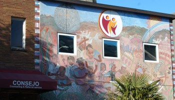 Photo depicting the mural on the exterior of the Consejo Counseling and Referral Services building.