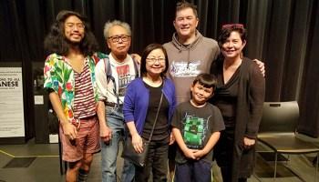 Bob Shimabukuro poses with his family.