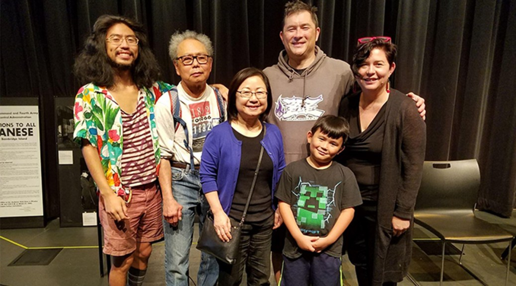 Bob Shimabukuro poses with his family.