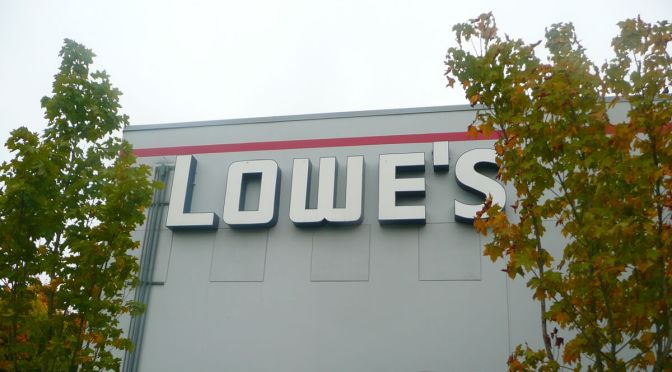 Featured Image: Lowe's sign. Photo by Lauren Siegert via Flickr under a Creative Commons license CC BY-SA 2.0.