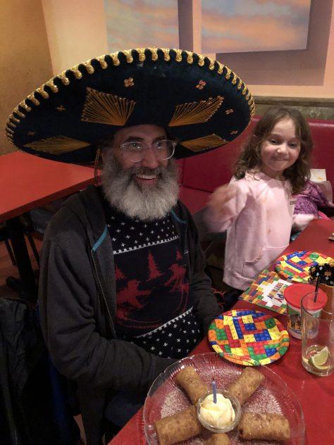 frequent customer Ethan Pollack celebrates his birthday at El Sombrero.