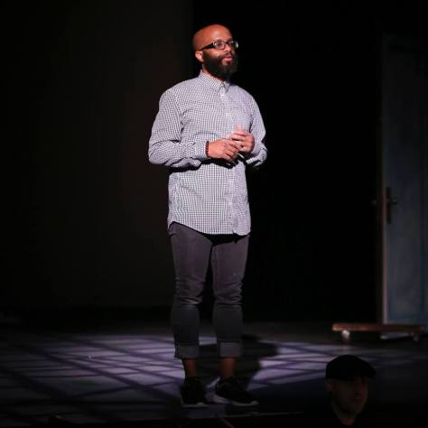 Tyrone Brown on stage at Seattle Musical Theatre during his time as the artistic director.
