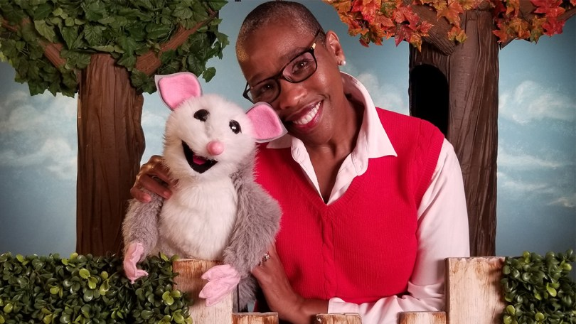 Val Thomas-Matson as Auntie Lena, host of 'Look, Listen, and Learn,' and Possum.