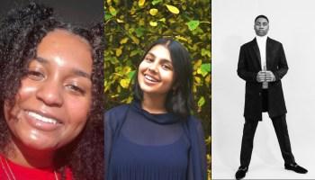 Photos of Mia Dabney, Aneesa Roidad, and KyRi Miller