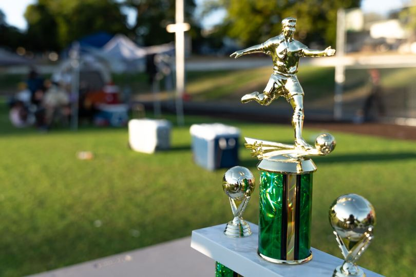 Cham Seattle Soccer 2021 Tournament Championship trophy.