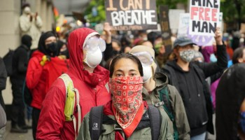 Downtown Seattle on May 30,2021 for multiple protests, over the killing of George Floyd