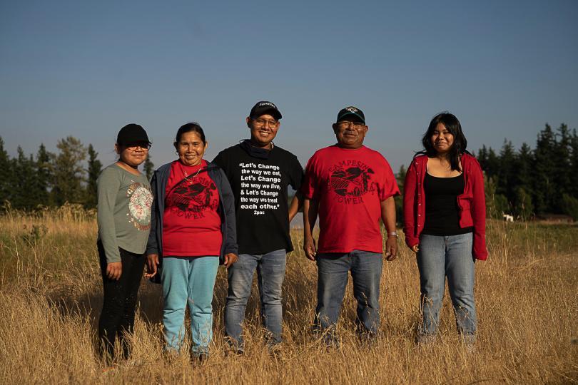 La familia Sanchez, members of Familias Unidas por la Justicia at Collectivo Tierra Y Libertad.