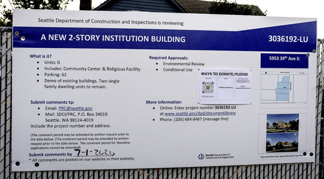 Construction Notice. The Cham Refugees Community is awaiting approval for a master use permit of their new community building space. (photo: Ronnie Estoque)