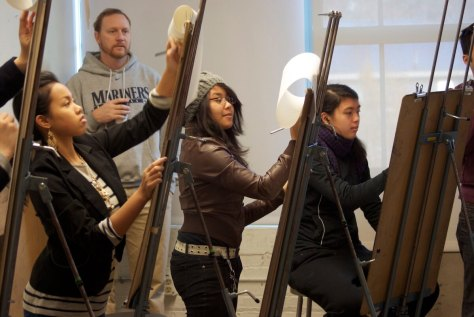YES! Foundation program participants work on art projects. (Photo courtesy of YES! Foundation)