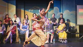 A stage performance via Heritage Arts Apprenticeship Program