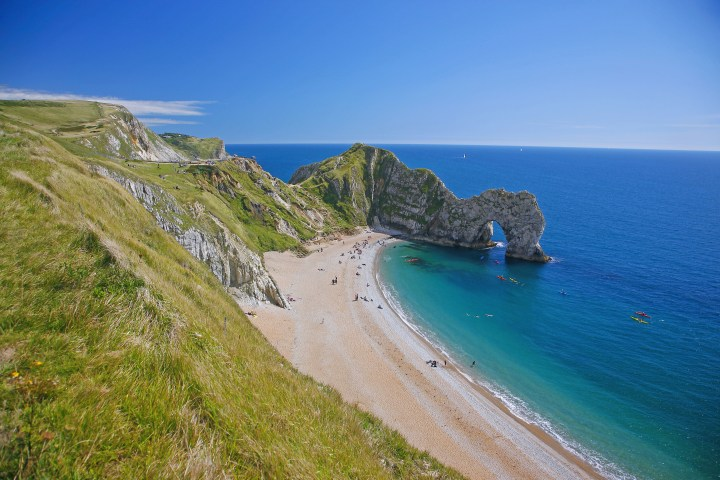 Dorset, The Jurassic Coast, Isle of Purbeck, St. Oswald's Bay; Durdle Door