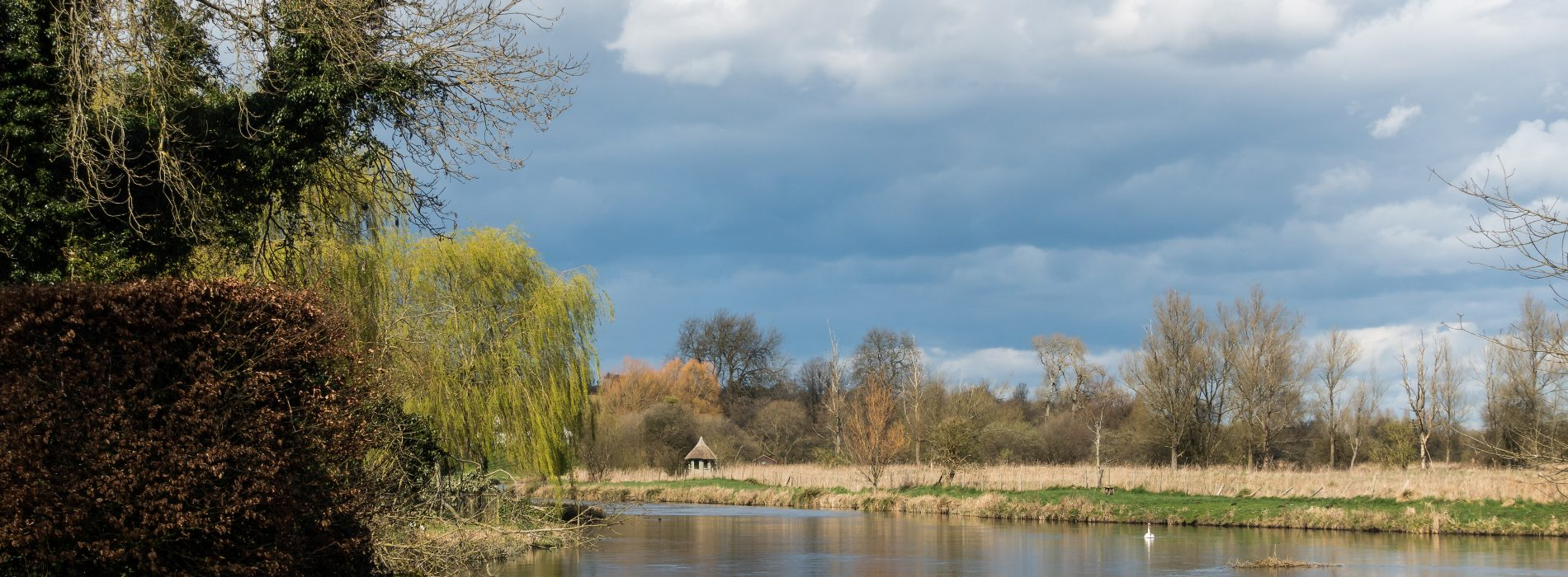 View of the River Test in Hampshire