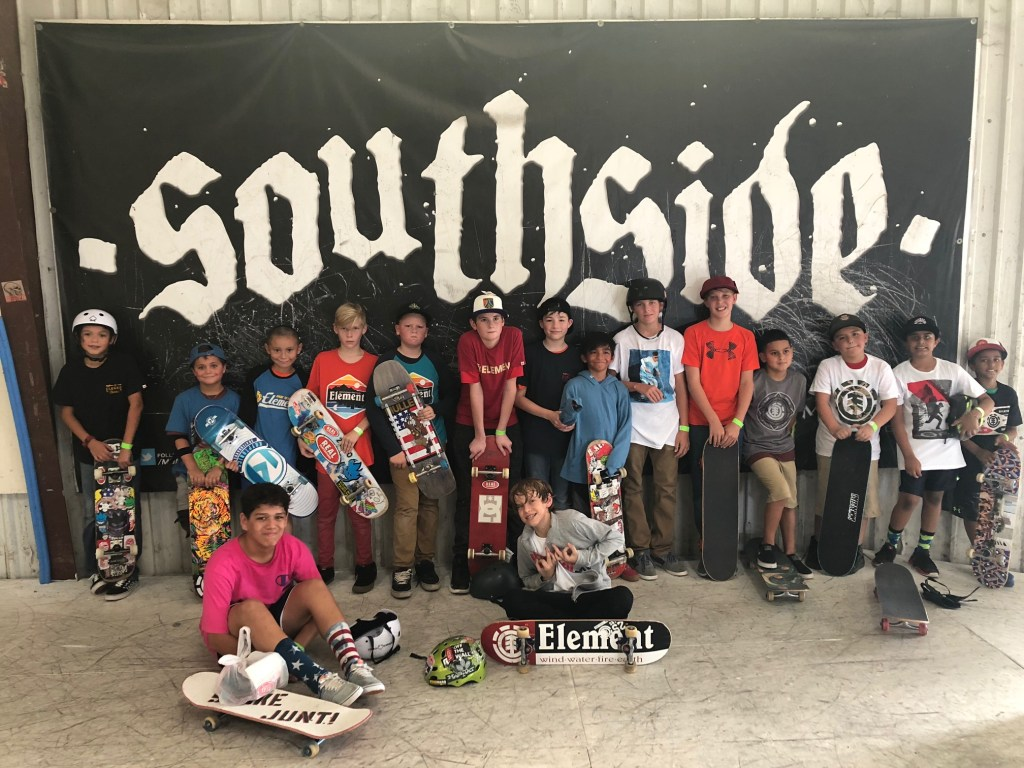 southside-skatepark-instructional day camp group photo