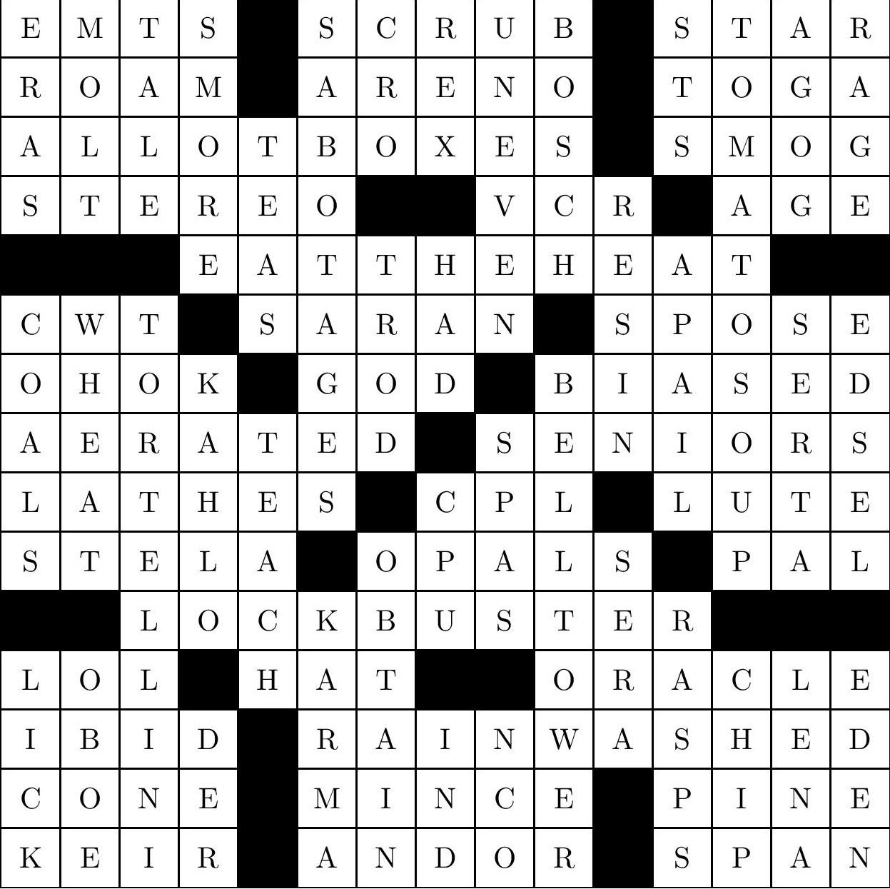 Crossword 10 21 15 South Side Weekly